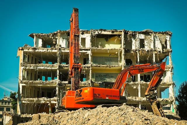 Site, Excavators, Construction Work, Work, Demolition
