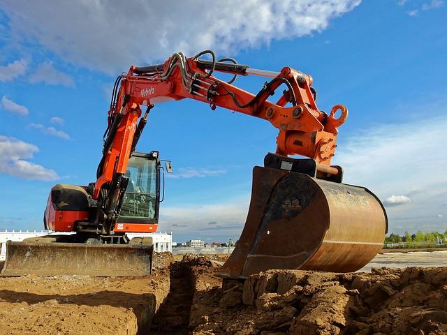 Excavators, Machine, Construction Machine, Site