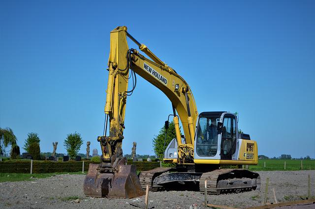 Excavators, New Holland, Site, Construction Machine