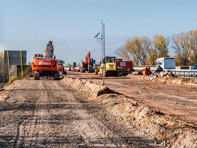 Site, Highway, Renewal, Construction Work