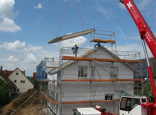 House Construction, New Building, Site, Scaffold