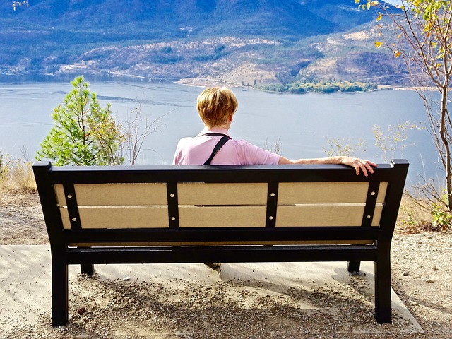 Person, Sitting, Peace, Bench, View, Tranquility