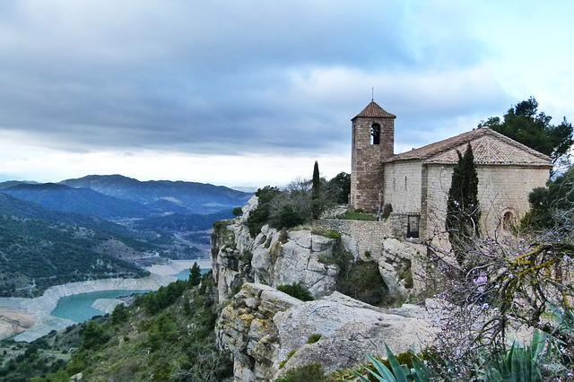 Romanesque, Church, Siurana, Cliff, Architecture