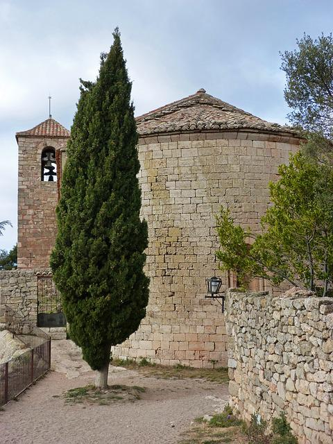 Romanesque Church, Siurana, Priorat, Apse, Cypress