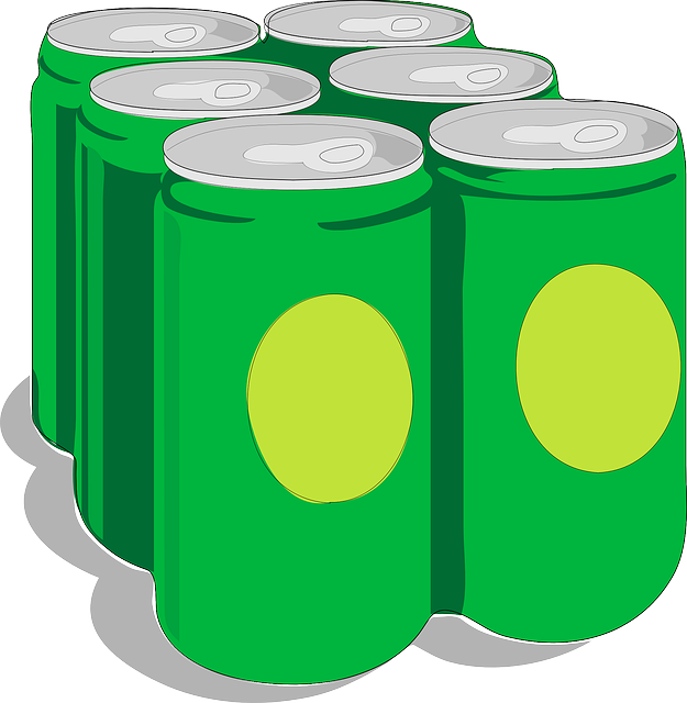 Six Pack, Beverages, Drinks, Soda, Beer, Cans, Green