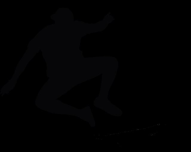 Silhouette, Skate, Board, Skate Board, Jump, Acrobacy