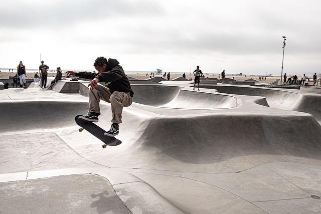 Skater, Skateboarder, Skatepark, La, Skating