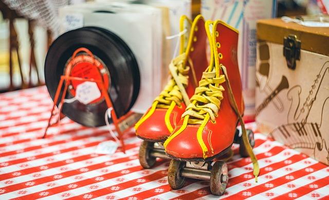 Vintage, Skates, Records, Antiques, Roller Skates