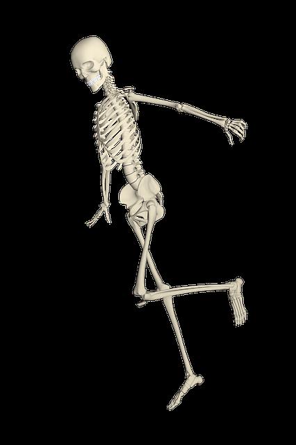 Skeleton, Weis, Fall, Run, Stumble, Bone, Undead
