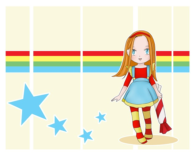 Child, Fun, Cute, Sketch, Girl, Candy, Red Hair