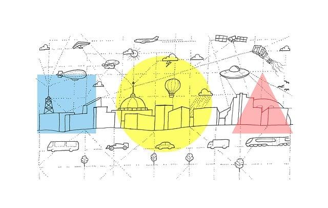 Urban, City, Skyline, Sketch, Transportation, Vehicle