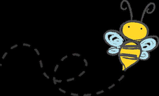 Bee, Cartoon, Bumble, Honey, Icon, Buzz, Sketch, Yellow