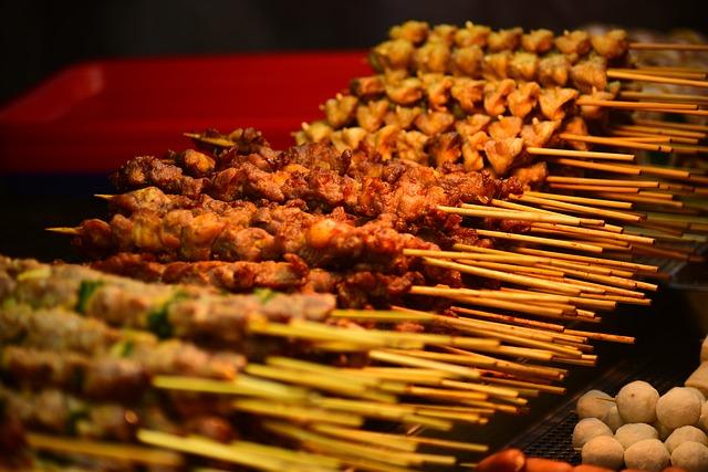Barbecue, Meat, String, Skewers, Food