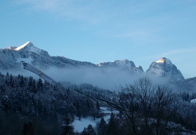 Ski Jump, Winter Sports, Bad Mitterndorf, Mountains