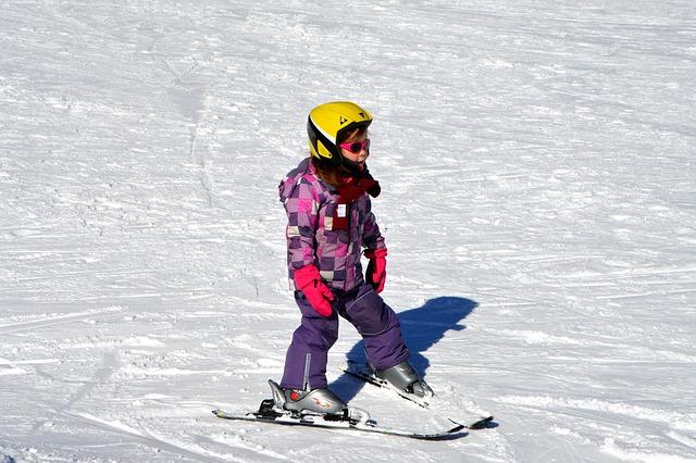 Children, Ski Lessons, Exercise Hills, Black Forest