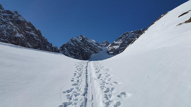 Ski Track, Backcountry Skiiing, Elfer Head, Ski, Tour