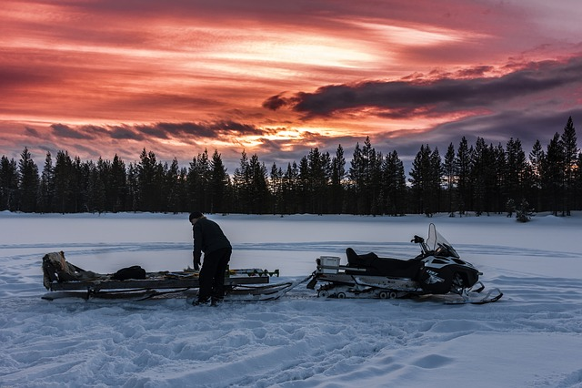 Snow, Winter, Cold, Ice, Lapland, Snowmobile, Skido