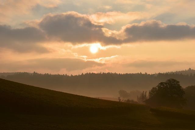 Morgenstimmung, Sunrise, Landscape, Sky, Skies