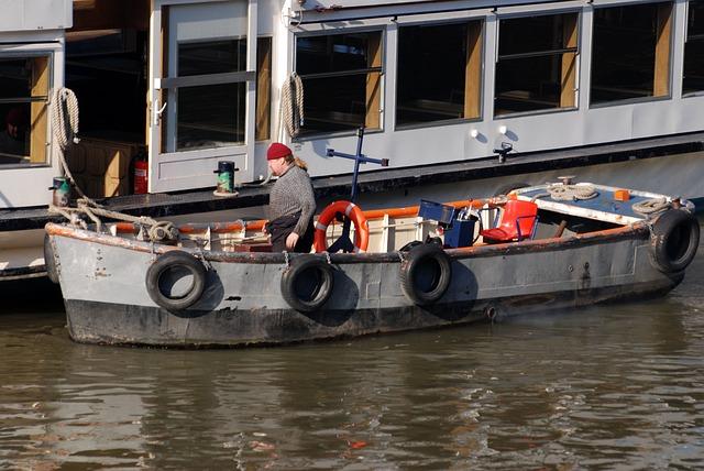 Skiff, Boatman, River, Thames, London