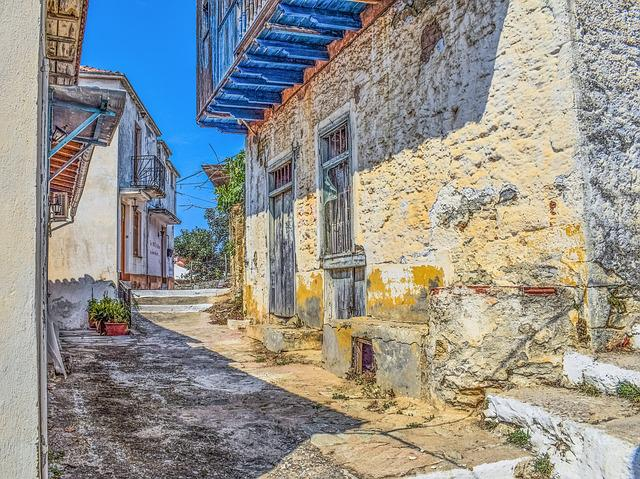 Greece, Skopelos, Glossa, Village, Street, Alley