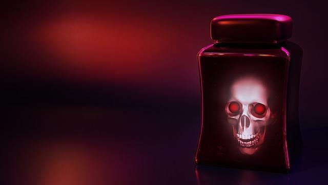 Skull, Skull And Crossbones, Glass, Creepy, Darkness
