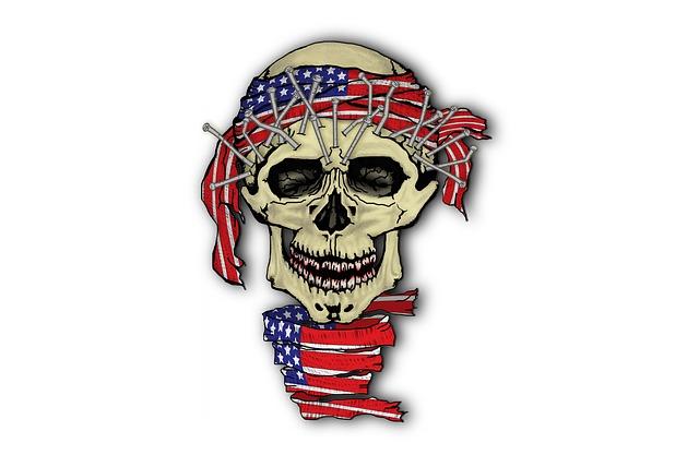 Skull, American, Death, Design, Skeleton, Wild, Head