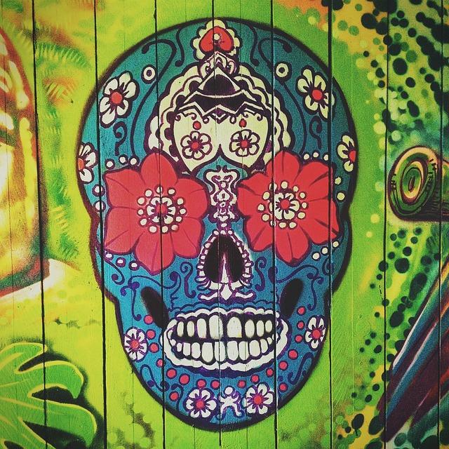 Skull, Symbol, Mexican, Mexico, Culture, Sign, Vintage