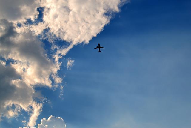 Sky, The Plane, Flight, Aircraft, A Passenger Plane