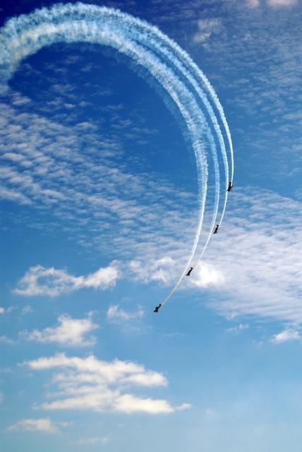 Bournemouth, England, Flugshow, Sky, Blue, Aircraft