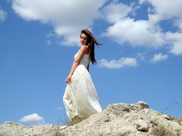 Girl, Angel, Cloud, White, Sky, Beauty