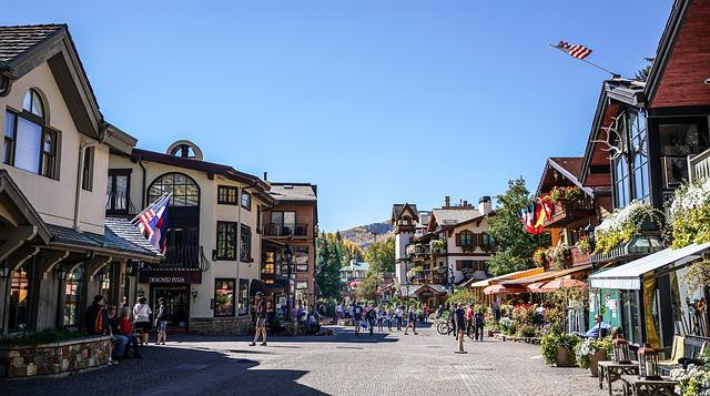 Vail Colorado, Village, Architecture, Landscape, Sky