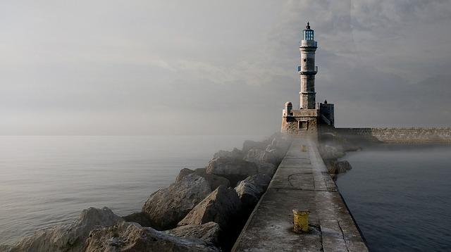 Lighthouse, Quay Wall, Signal, Astronomy, Sky, Forward