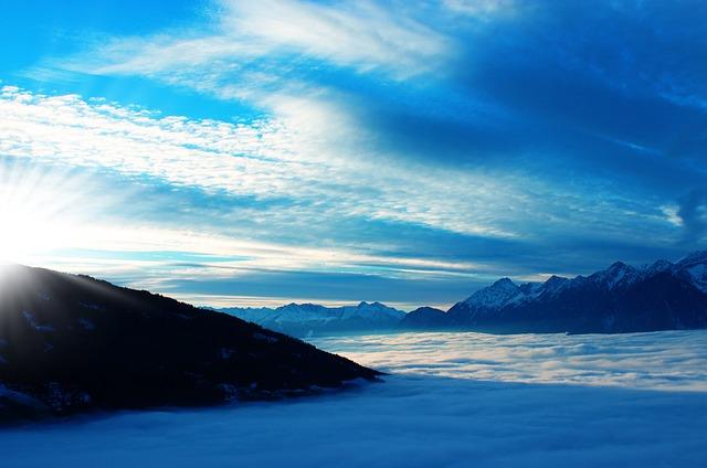 Above The Clouds, Sky, Tyrol, Austria, Blue