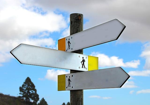 Directory, Away, Hiking, Direction, Arrow, Sky
