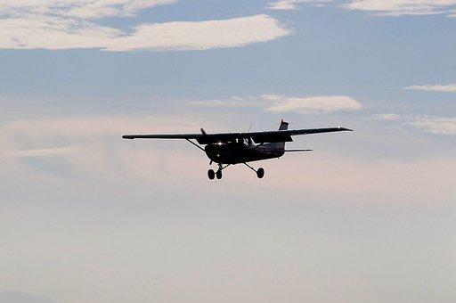 Aircraft, Cessna, Back Light, Sky