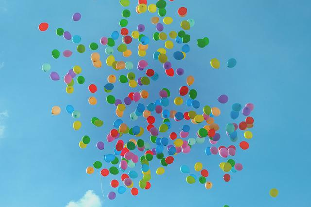 Balloons, Colorful, Colourful, Hd Wallpaper, Sky