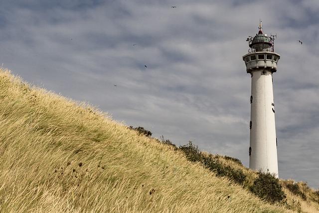 Lighthouse, Netherlands, Sea, Beach, Coast, Sky