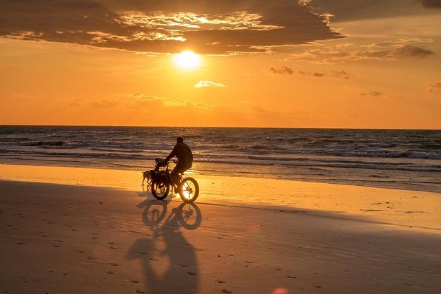 Sky, Sunset, Darwin, Sunset Sky, Horizon, Bicycle