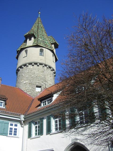 Ravensburg, Green Tower, Sky, Blue