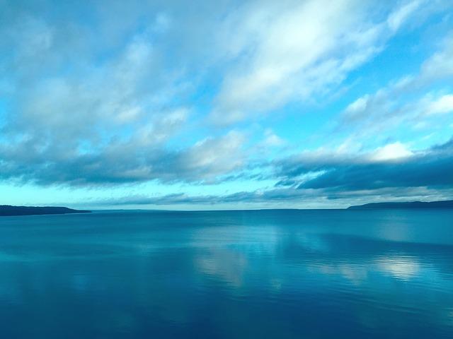 Himmel, Vättern, Lake, Blue, Nature, Cloud, Sky Blue
