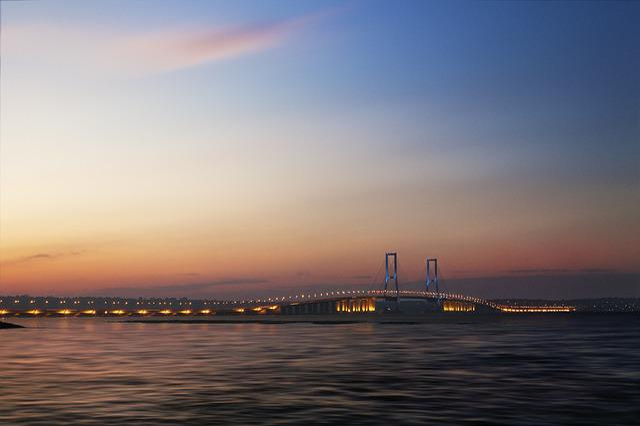 Surabaya, Bridge, Suramadu, Sky, Java, Madura, Photo