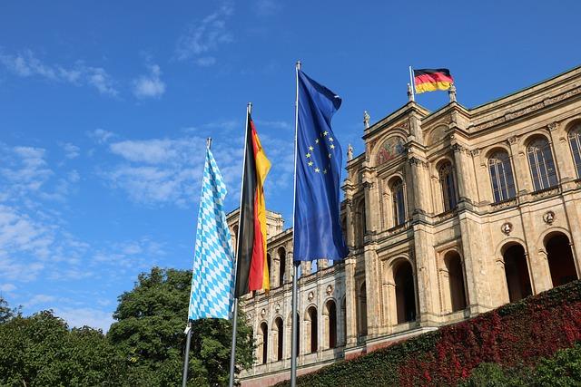 Architecture, Flag, Travel, Building, Sky, Munich