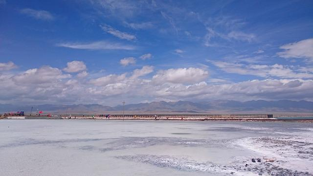 Caka Salt Lake, Qinghai, The Scenery, Sky, Habitat Sky