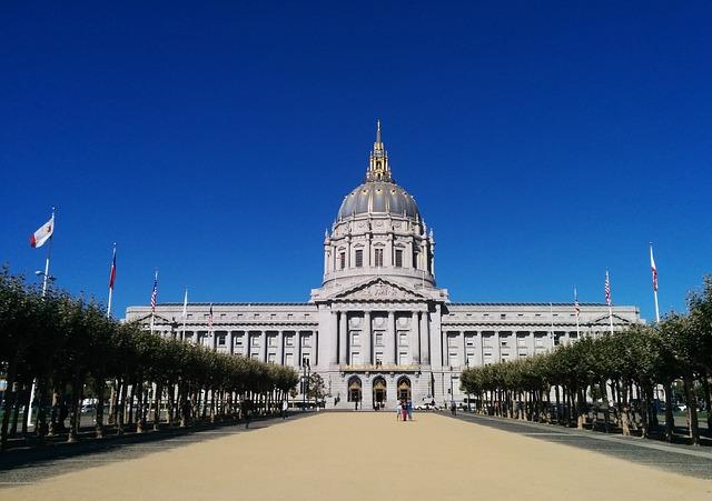San Francisco, City Hall, Sf, Sky, Clear Skies