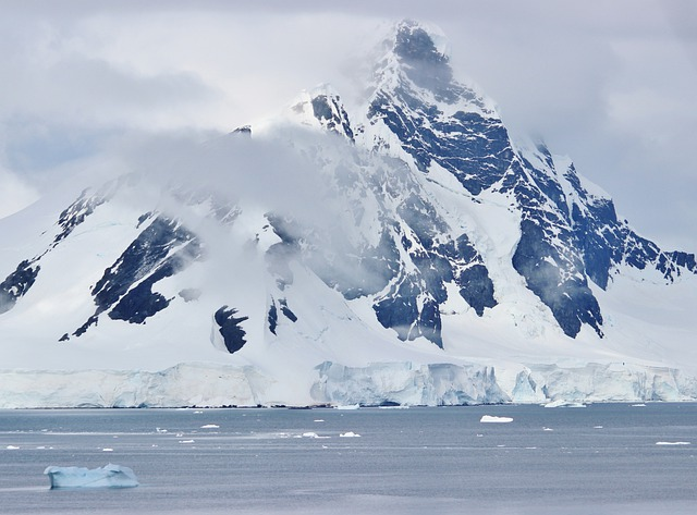 Antarctica, Sea, Ocean, Snow, Ice, Sky, Clouds