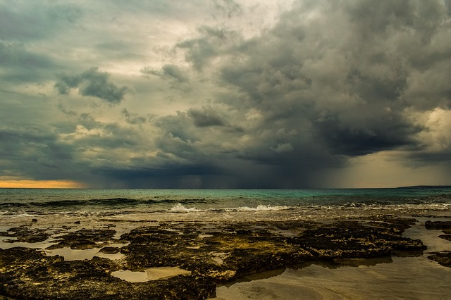 Sky, Clouds, Storm, Beach, Nature, Afternoon, Weather