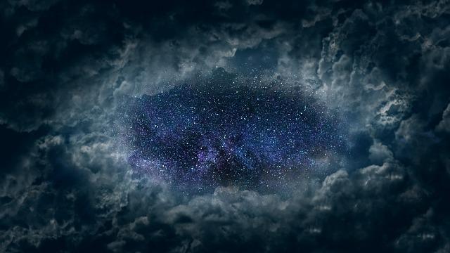 Clouds, Universe, Star, Night, Clouds Veil, Sky
