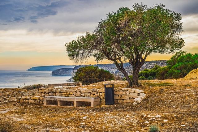 Cyprus, Kourion, Landscape, Tree, Sky, Clouds, Horizon