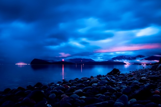 Juneau, Alaska, Sunset, Dusk, Sky, Clouds, Mountains