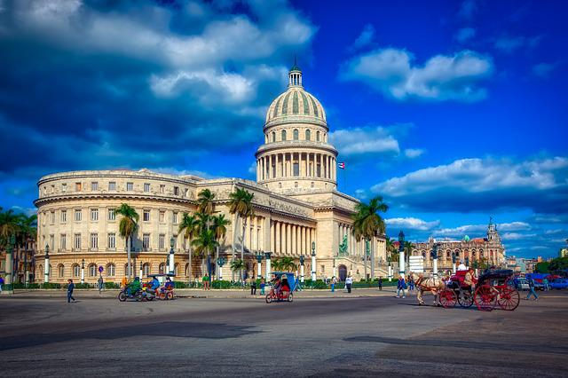 Havana, Cuba, Capitol Building, Government, Sky, Clouds